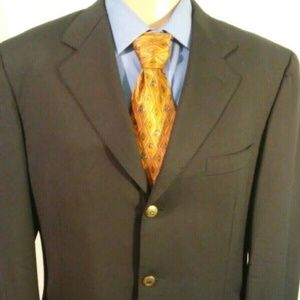 Canali 3 Bronze Button Men's 44R Blazer Blue